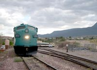 Diesel locomotive in Verde Canyon