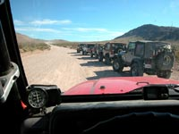 Jeeps line up
