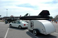 SR-71 Blackbird with trailer