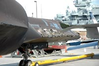 SR-71 Blackbird, damaged by Katrina