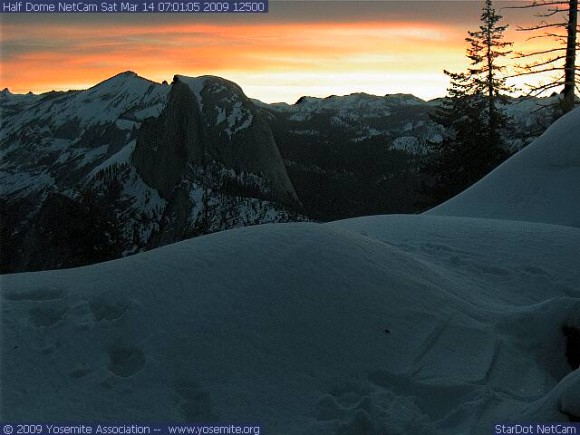 Courtesy of Yosemite webcam