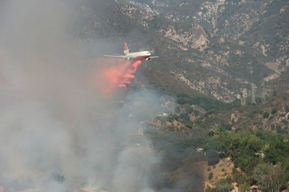 DC-10 Holding the line -- Looking towards Eaton Canyon