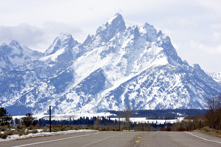 tetons road view