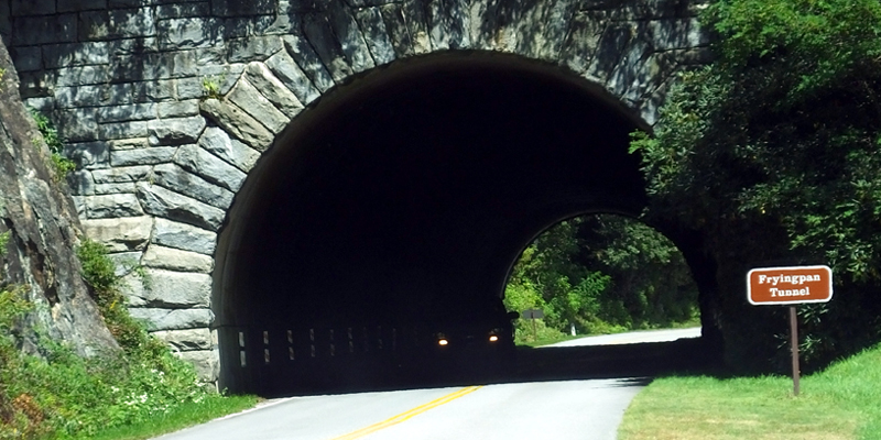 Frying Pan Tunnel on the BRP, North Carolina - Photo by Jamie Bruzenak