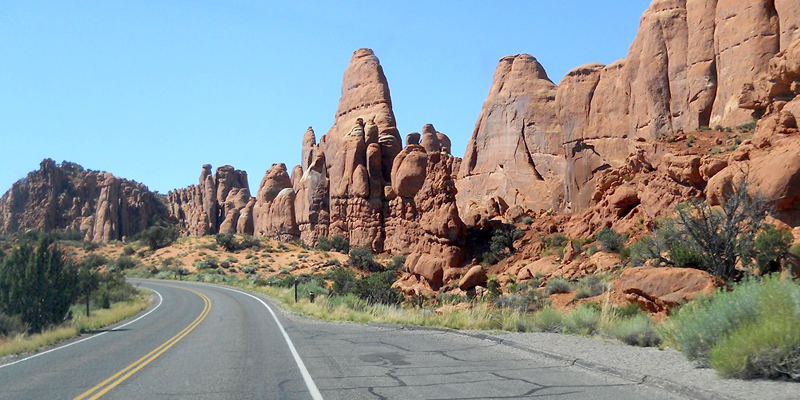 Fiery Furnace area, Arches NP, Utah - Photo by Harry Kline