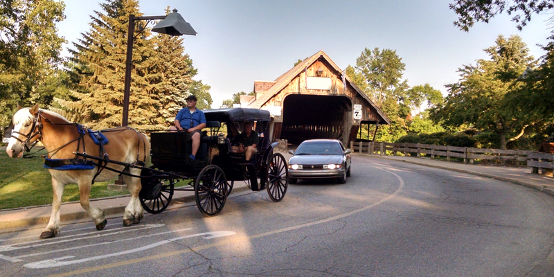 Horse-drawn in Frankenmuth, Michigan - Photo by Megan Edwards