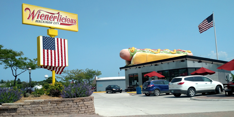 Hot dogs for the 4th, Mackinaw City, Michigan - Photo by Mark Sedenquist