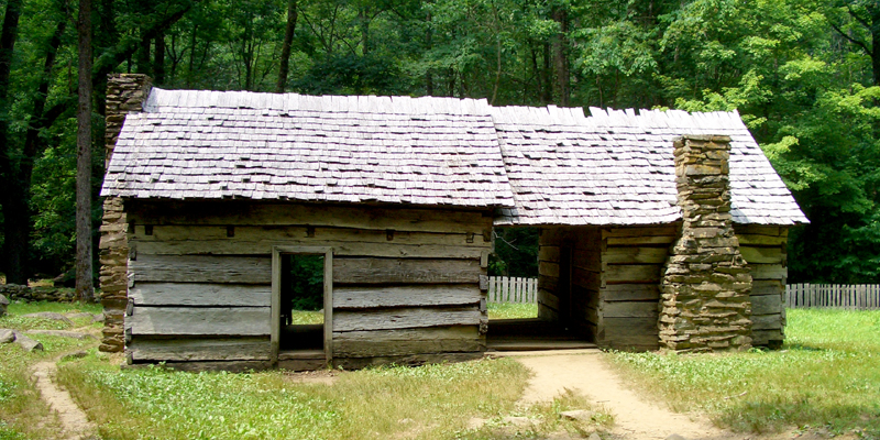 Historic cabin, Great Smokeys NP - Photo by Megan Edwards