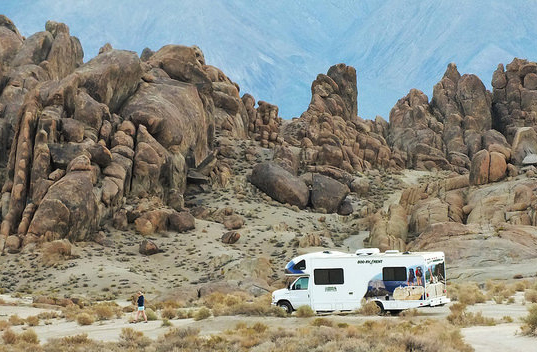 RVing in the Alabama Hills, California