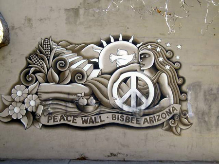 The Peace Wall, Bisbee, Arizona