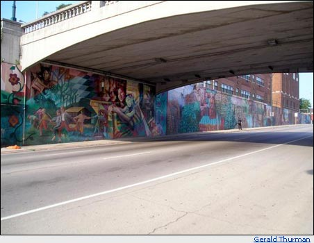 Street Mural in Joliet, Illinois