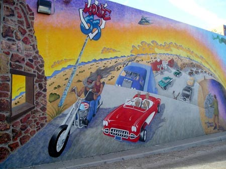 Route 66 Mural in Albuquerque