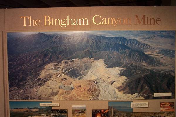 Arial view of the Bingham Canyon Mine