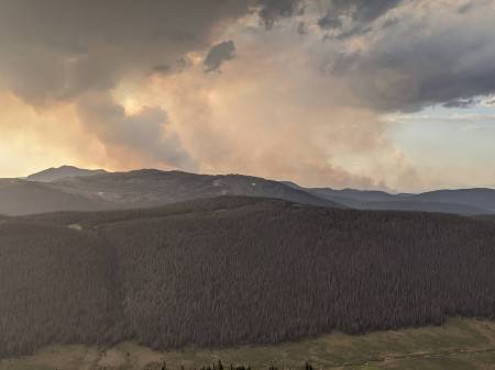 Smoke on trail ridge