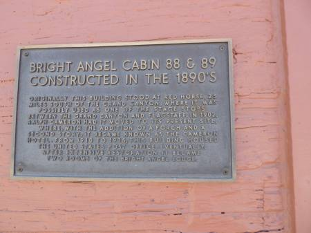 Grand Canyon Old Post Office plaque