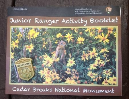 Cedar Breaks NM Junior Ranger booklet