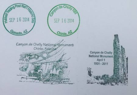 Canyon de Chelly stamps