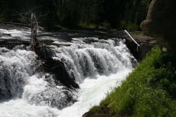 waterfall, idaho, camping