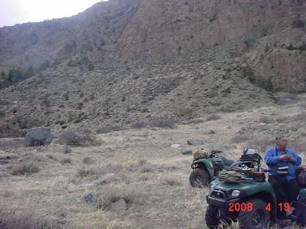 ATV trail  Clarks Fork, April, 2008
