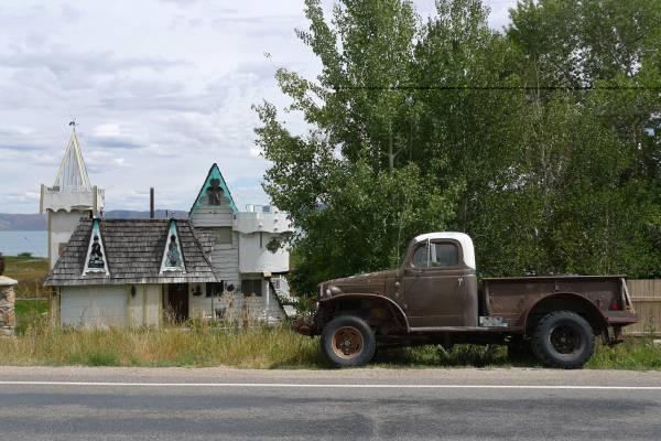 Truck and house, Bear Lake, Idaho