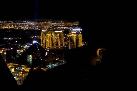 Helicopter over Las Vegas