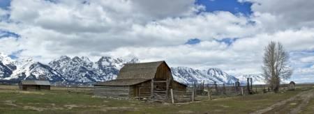 OLd Barn Panoramic. Grand Teton NP