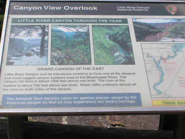 Canyon View Overlook Information Sign