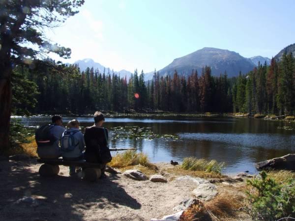 Taking a break, Nymph lake.