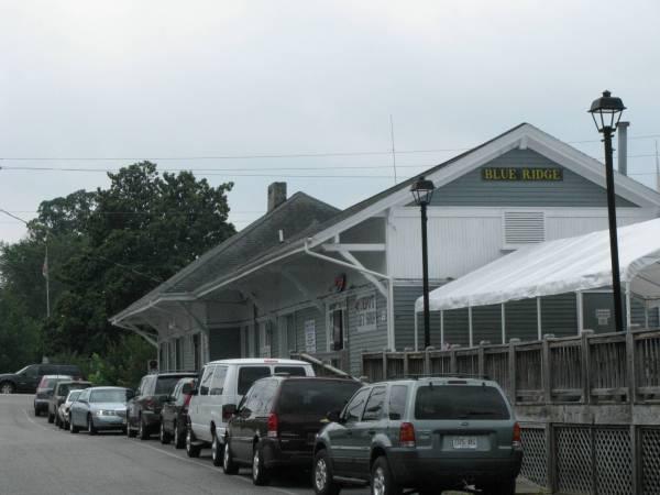 The train depot in Blue Ridge, GA is a landmark in the town.