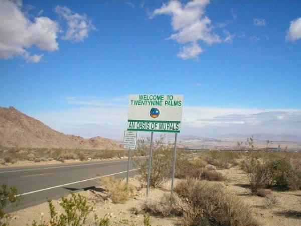 Welcome Sign to Twentynine Palms, California