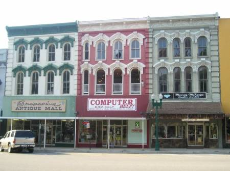 Downtown in Paris, Tennessee