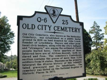 Old City Cemetery Historic Marker