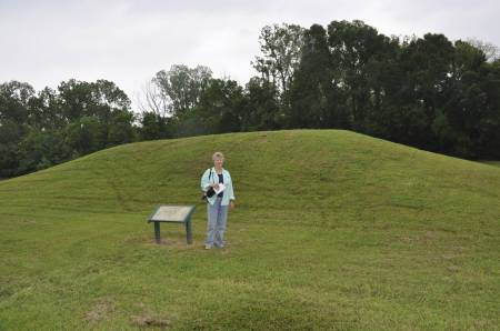 Temple Mound at Grand Village of the Natchez Indians