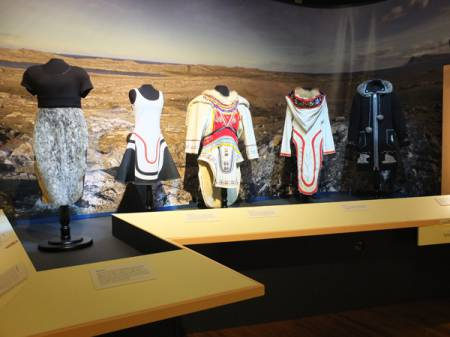 Amauti display at The Peary-MacMillan Arctic Museum