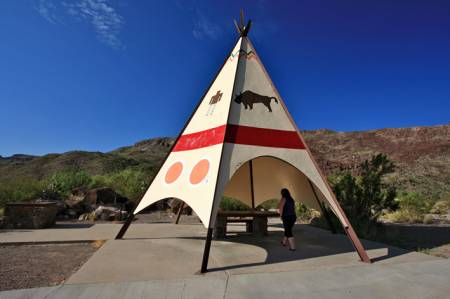 Teepee Rest Stop, River Road, Texas