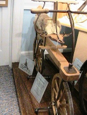 One of the museum's odd bike specimens