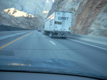 CRST truck in Virgin River Gorge