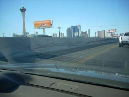 Las Vegas from the passenger seat
