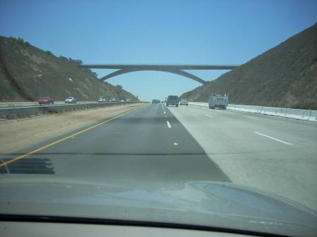 Nearing home - Fallbrook Bridge over I-15