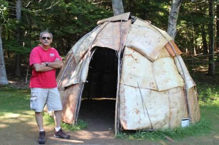 Acadia: Abbe Museum birchbark wigwam