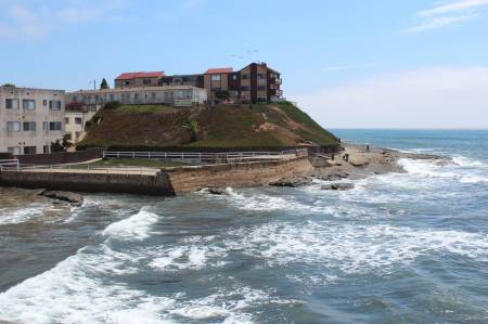 View south from Ocean Beach Pier