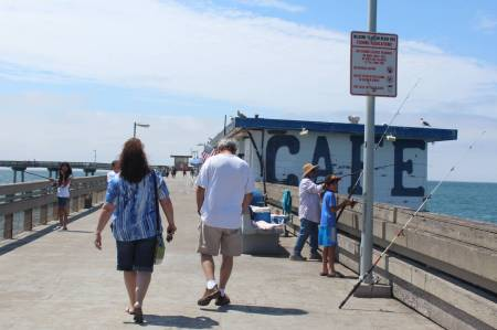 Walking on Ocean Beach Pier
