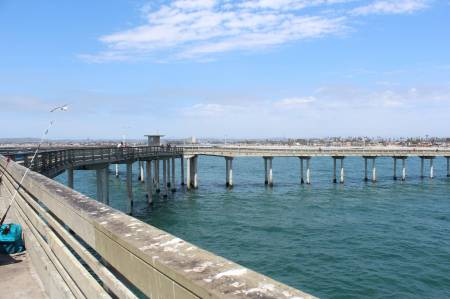 Towards the end of Ocean Beach Pier
