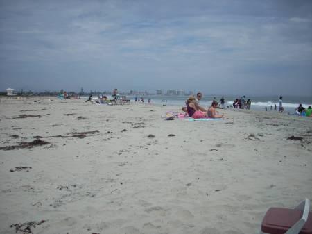 Looking south from the beach toward Coronado.