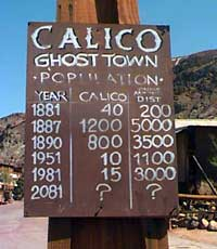 Mine buildings at Calico ghost