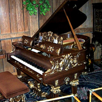 Fischer gold gilded grand piano