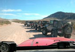 Jeeps in Death Valley