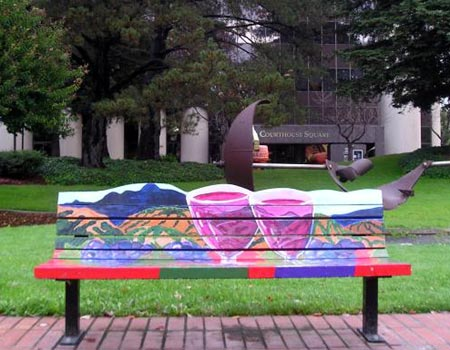 """Wine Country"" bench"