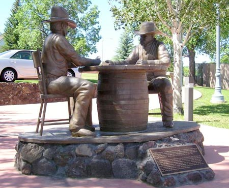 Statue in Show Low, Arizona