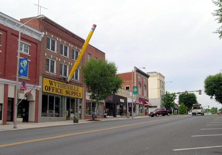 The Big Pencil in Wytheville, VA